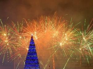 Новогодний салют в Перми в 2014 году